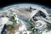 Канаду заволокло дымной пеленой : фото со спутника