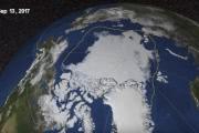 Площадь арктического морского льда достигла годичного минимума