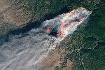 Калифорния в огне: вид из космоса